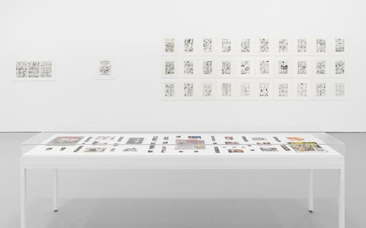 Exhibition view: Aline Kominsky-Crumb and R. Crumb, Drawn Together, David Zwirner, 19th Street, New York (12 January–18 February 2017). Courtesy David Zwirner and the artists.