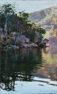 River Bend, Smiths Creek (Hawkesbury 12) by A.J. Taylor contemporary artwork painting