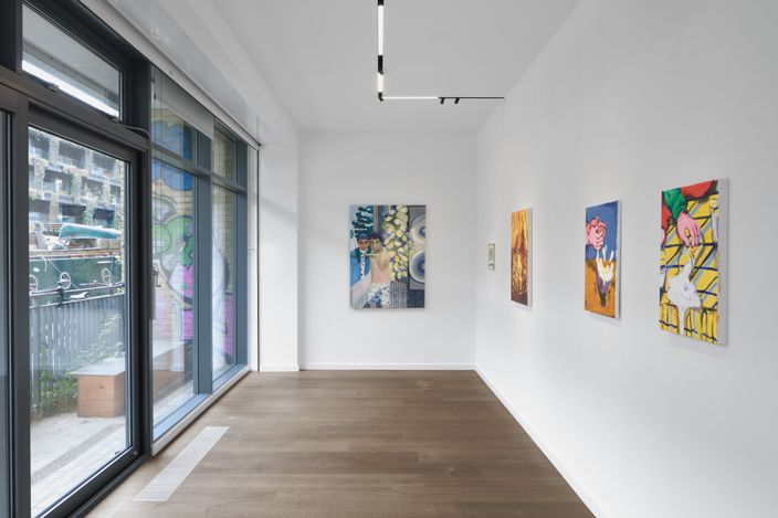 Exhibition view: Group exhibition,Interludes,Workplace,London (15 May–20 June 2021).Courtesy Workplace.