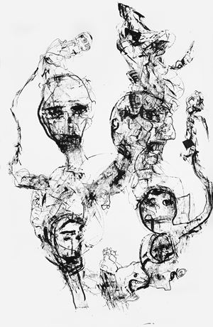 Untitled (Drawing 3) by P. R. Satheesh contemporary artwork