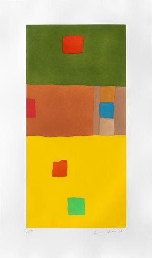 En route vers le désert by Etel Adnan contemporary artwork