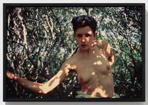 Siobhan in the woods, Provincetown by Nan Goldin contemporary artwork