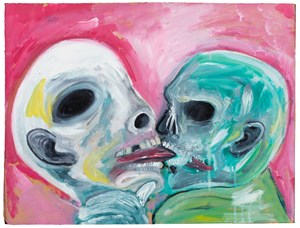 Love Means Never Having to Say You're Ugly, The Kiss, part 2 by David Harrison contemporary artwork