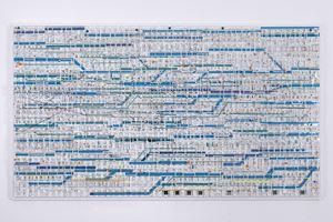 Traffic 1802 Blue by Katsumi Hayakawa contemporary artwork