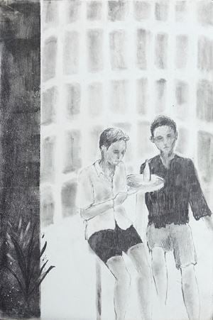 Two, one, two by Moses Tan contemporary artwork