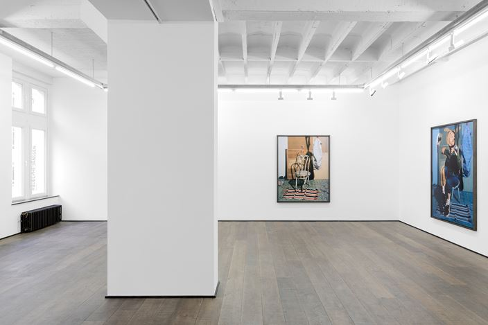 Exhibition view: Lucas Blalock, Insoluble Pancakes, rodolphe janssen, Brussels (15 February–21 March 2020). Courtesy the artist and rodolphe janssen, Brussels. Photo:HV photography.