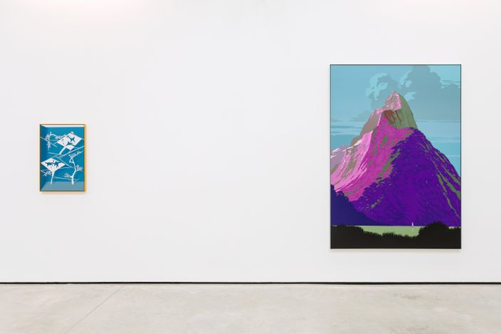 Exhibition view: Alex Dordoy, The Weather Channel, The Modern Institute, Osborne Street, Glasgow (3 September–30 October 2021). Courtesy the Artist and The Modern Institute/Toby Webster Ltd, Glasgow. Photo: Patrick Jameson.