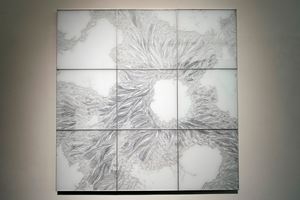 Flotage-W by Shinji Ohmaki contemporary artwork drawing