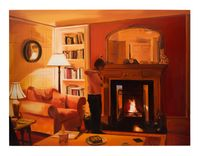 Lighting Candles, Evening, March by Caroline Walker contemporary artwork painting