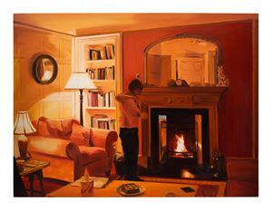 Lighting Candles, Evening, March by Caroline Walker contemporary artwork