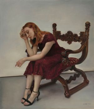 Nina on the chair by Pang Maokun contemporary artwork