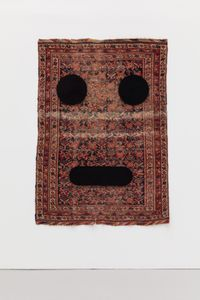 Carpet Face #1 by Peter Liversidge contemporary artwork textile