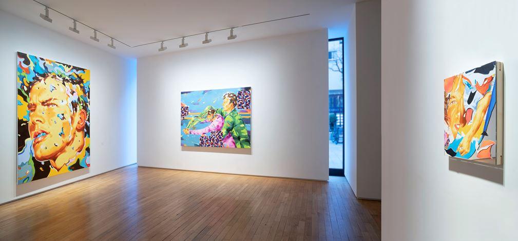 Exhibition view: Norbert Bisky, Desmadre Berlin, Templon, 28 Grenier Saint-Lazare, Paris (14 March–23 May 2020). © Courtesy Templon, Paris - Bruxelles. Photo: Bertrand Huet-Tutti.