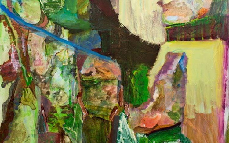 Francesca Mollett, Sancreed(2020) (detail). Oil and acrylic on calico. 120 x 100 cm. Courtesy Informality.