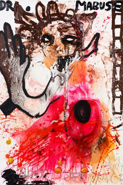 """MEIN BLUT FÜR DEN MELONENKÖNIG """"MABUSIS""""! (ABRIDGED) by Jonathan Meese contemporary artwork"""
