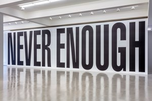 Untitled (Never Enough) by Barbara Kruger contemporary artwork
