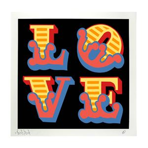 Love by Ben Eine contemporary artwork