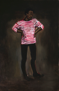11pm Sunday by Lynette Yiadom-Boakye contemporary artwork painting