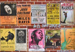 Ode to Jazz Hubs by Sam Nhlengethwa contemporary artwork
