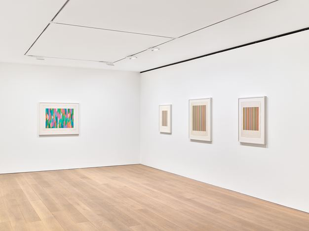 Exhibition view: Bridget Riley, Studies: 1984–1997, David Zwirner, London (6 March– 31 July 2020). Courtesy David Zwirner. Photo: Anna Arca.