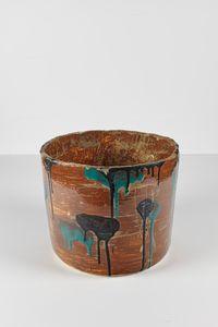 Untitled Large Planter 24 by Rashid Johnson contemporary artwork ceramics