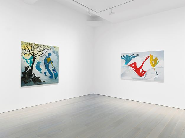 Exhibition view: Inka Essenhigh, Miles McEnery Gallery, New York (19 April–25 May 2018).Courtesy Miles McEnery Gallery.