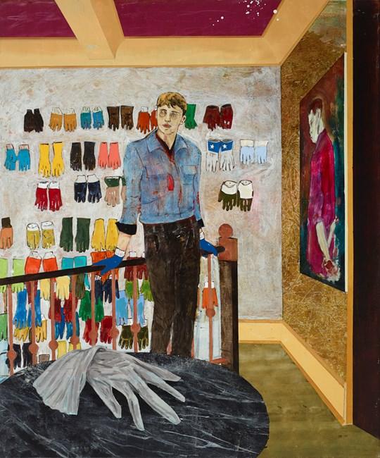 Case study (Harvey, Palmist/glove collector) by Hernan Bas contemporary artwork