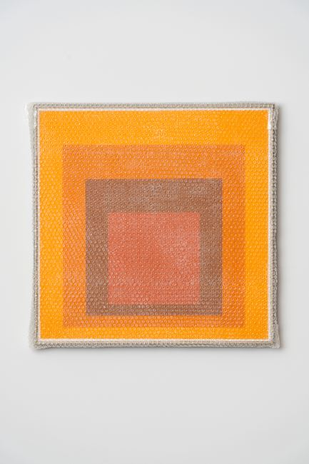 Homage to the Square with Bubblewrap and Packing Tape #6 by Tammi Campbell contemporary artwork