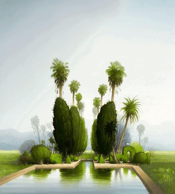 Setting out a garden by Alexander McKenzie contemporary artwork