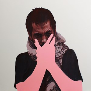 Sometimes we cover our mouths so we don't speak by Abdul Abdullah contemporary artwork