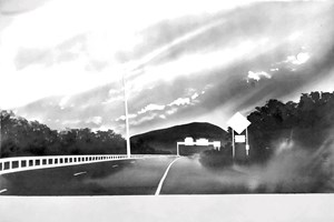Route 116, near Sunderland, Massachusetts (from 100 Views Along the Road) by Alfred Leslie contemporary artwork