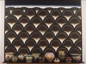 Virtual Still Life #14: Pots and Piedmont at Piru by Roger Brown contemporary artwork