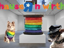 """Group Exhibition<br><em>Ridykes' Cavern of Fine Gay Wine and Videos: Hauser & Werk Bitch: Don't Be Mad At Us!</em><br><span class=""""oc-gallery"""">Hauser & Wirth</span>"""