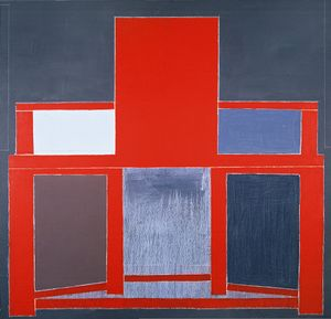 Red High - backed Chair by Mao Xuhui contemporary artwork