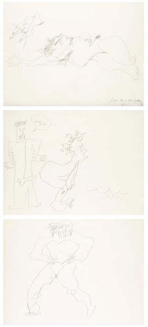 Untitled (Triptych) by Jean-Michel Basquiat contemporary artwork
