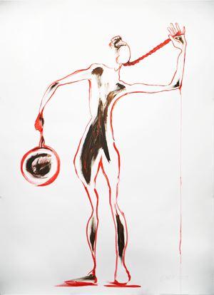 Redline. Crime Scene series by Jane McAdam Freud contemporary artwork