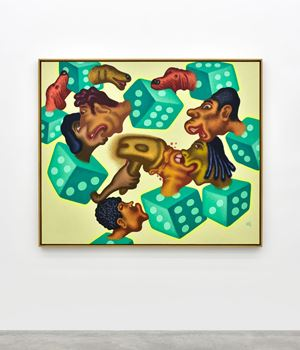 Lip Wrestling by Peter Saul contemporary artwork