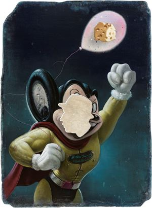Mighty Mouse's Maasdam Cheese 太空飛鼠的洞洞起司 by Kuo Wei-Kuo contemporary artwork