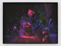 "Mother & Child (Victoria ""Abdaraya Toya"" Montou & Jean-Jacques Dessalines) by Christopher Udemezue contemporary artwork print"
