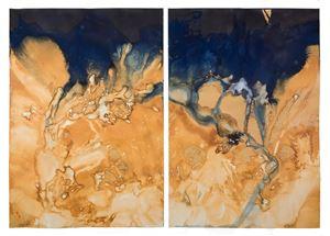 Littoral Drift #986 (Point White Beach, WA 03.21.18, Five Waves) by Meghann Riepenhoff contemporary artwork