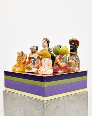 Adoring audience by Bharti Kher contemporary artwork