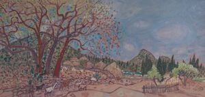 Sketch in Guishan - The Northwest Entrance of the Village by Mao Xuhui contemporary artwork