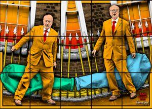 SAC LOVE by Gilbert & George contemporary artwork