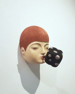 Word Going Out No.1 by Daisuke Teshima contemporary artwork