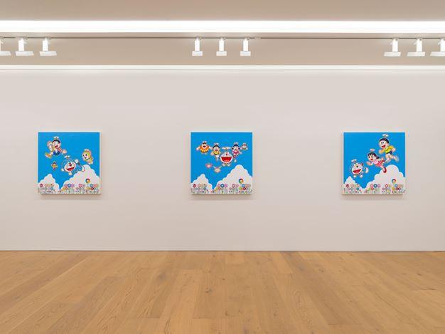 Exhibition view:Takashi Murakami,Superflat Doraemon,Perrotin, Tokyo (19 November 2019–25 January 2020).© 2019 Takashi Murakami/Kaikai Kiki Co., Ltd. All Rights Reserved.Courtesy Perrotin.Photo: Kei Okano.