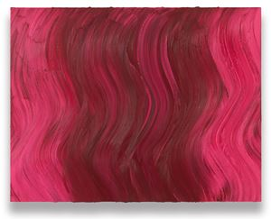 Untitled (Brilliant pink / Ideal rose) by Jason Martin contemporary artwork