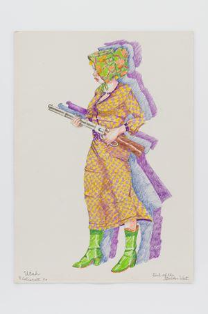 Girl of the Golden West - Utah by Robert Colescott contemporary artwork