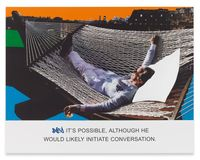 It's Possible, Although... by John Baldessari contemporary artwork painting