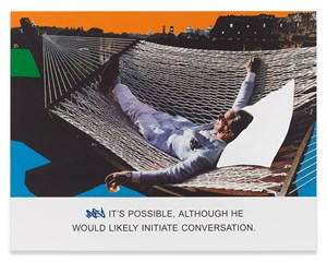 It's Possible, Although... by John Baldessari contemporary artwork