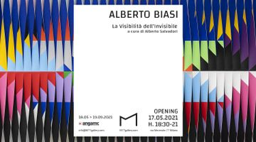Contemporary art exhibition, Alberto Biasi, The Visibility of the Invisible at M77, Milan